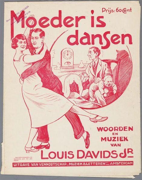 Bladmuziek Moeder is dansen. Collectie Joods Historisch Museum.