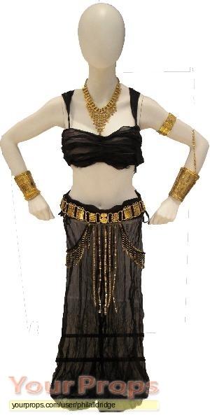 Gold dress dance costume xena