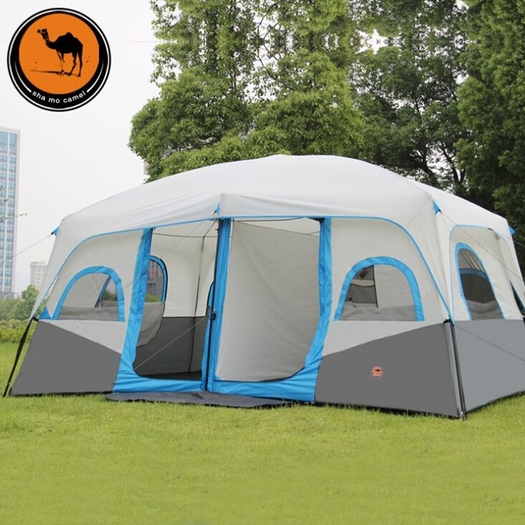 292.00$  Buy here - http://ali4ba.worldwells.pw/go.php?t=32581900896 - outdoor tent 10-12 man hiking opportunites with double tents wind rain telescopic auto tents 292.00$