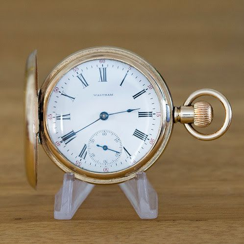 Stunning 17 Jewel Waltham Gold Filled Full Hunter Pocket Watch | Antique & Vintage Pocket Watches for Sale | Repair & Service | Durham