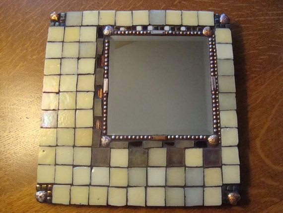MOSAIC MIRROR  Square Iridescent Mirror by victoriacharlotte