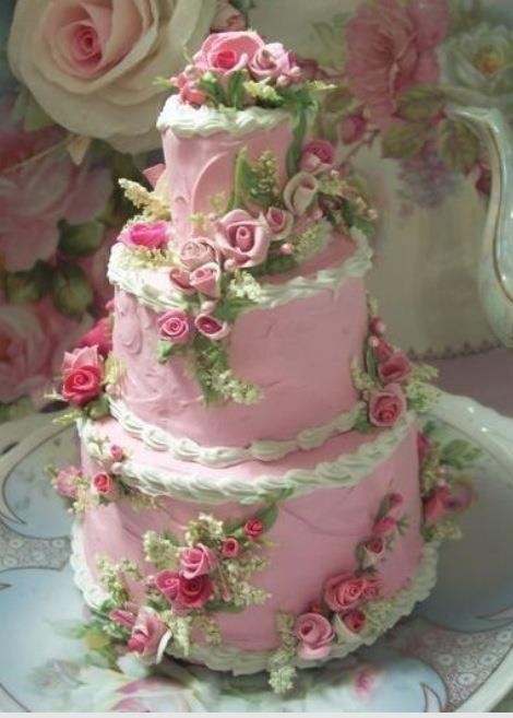 Fake cake, but so beautiful.