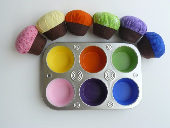 Cupcake Color Matching Game for Toddlers by seamstostreams on Etsy, $18.00