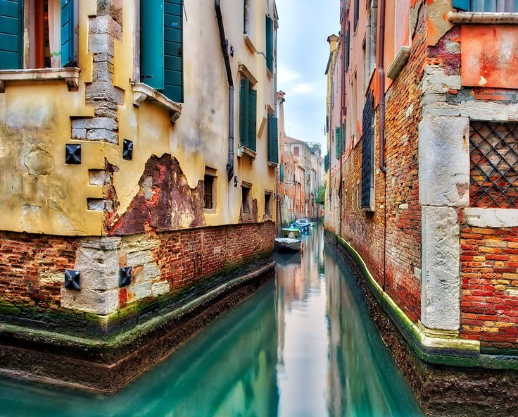 I love mixing together different levels of detail and smoothness in a photo. I think it's important to have a series of transitions. This one has many transitions, jumping from smooth dull colors to riotous textured colors to bright smooth areas to dull-colored highly textured areas. - Venice, Italy - Photo from #treyratcliff Trey Ratcliff at http://www.StuckInCustoms.com