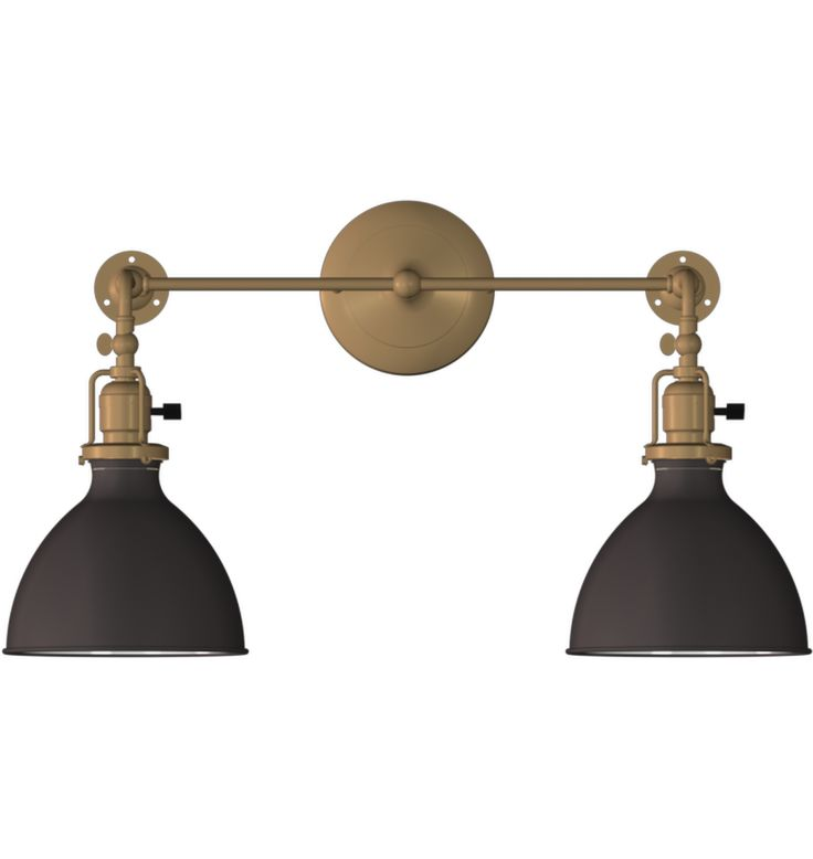 Grandview Double Sconce Industrial 2-Light Adjustable Wall Sconce Ranch House Pinterest ...