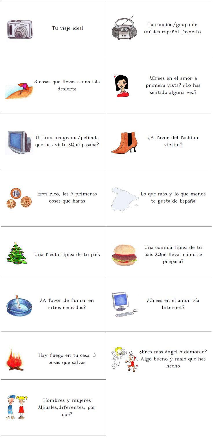 Temas para hablar en la clase de ELE