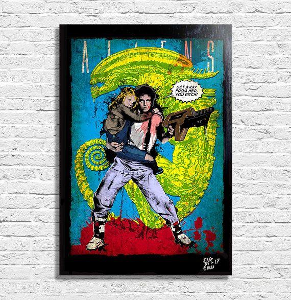 Ripley from Aliens Movie  Original framed fine art painting