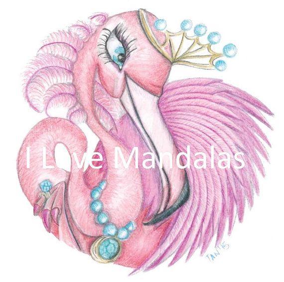 Fancy the Flamingo Mandala