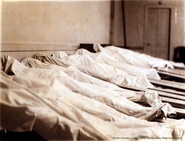 Bodies of victims of the St. Francis Dam disaster