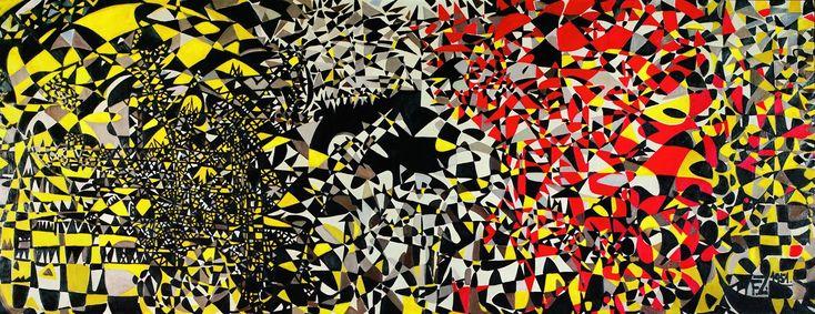 Turkish Painter Fahrelnissa Zeid - My Hell 1951 - http://mymagicalattic.blogspot.com/2012/12/fahrelnissa-zeid-1901-1991-my-hell.html