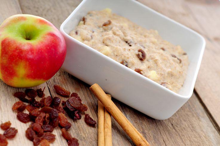 havermoutpap met appel kaneel en rozijnen - met Elstar OER-fruit