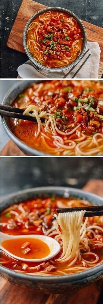 Shanghai Hot Sauce Noodles recipe by the Woks of Life #shanghai #hotsauce #noodles #noodlesoup #soup #chinese
