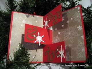 Creations by Patti: Xmas Message for You//// tutorial on how to make the inside surprise