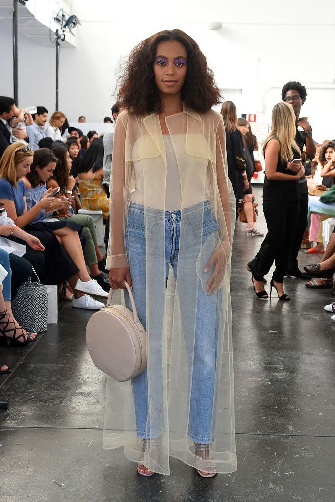 9/8/16 - Solange at the Creatures of Comfort Spring 2017 Fashion Show in NYC.