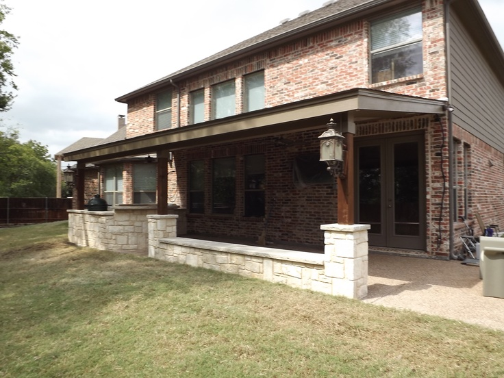Keller Texas Patio Cover And Stone Patio By C3 Backyard Oasis LLC @  Www.c3backyardoasis