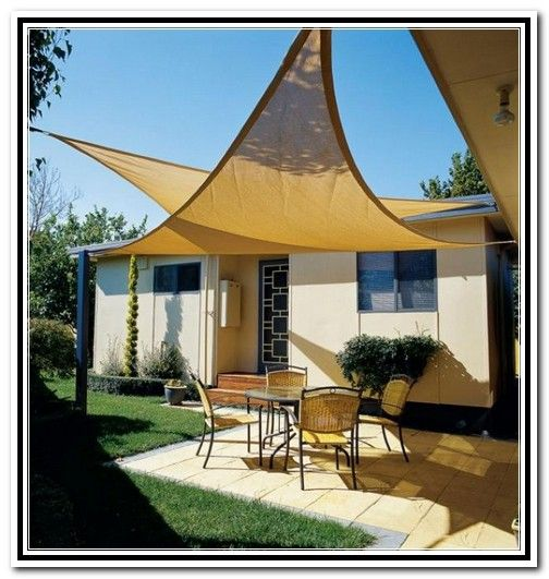 Tarp Patio Cover Ideas  Related to Triangle canvas patio