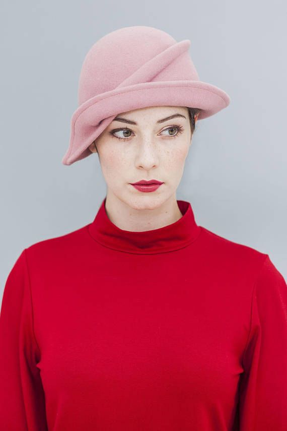 f675361d4c9 KATTY is a very special kind of cloche hat. The hand-shaped fold running