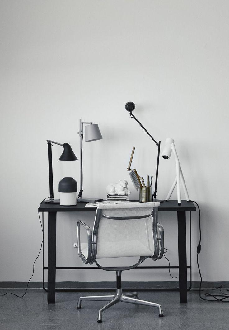 Hemingway desk styled. Styling: Lene Ostenfeldt Photo: Anders Schønnemann