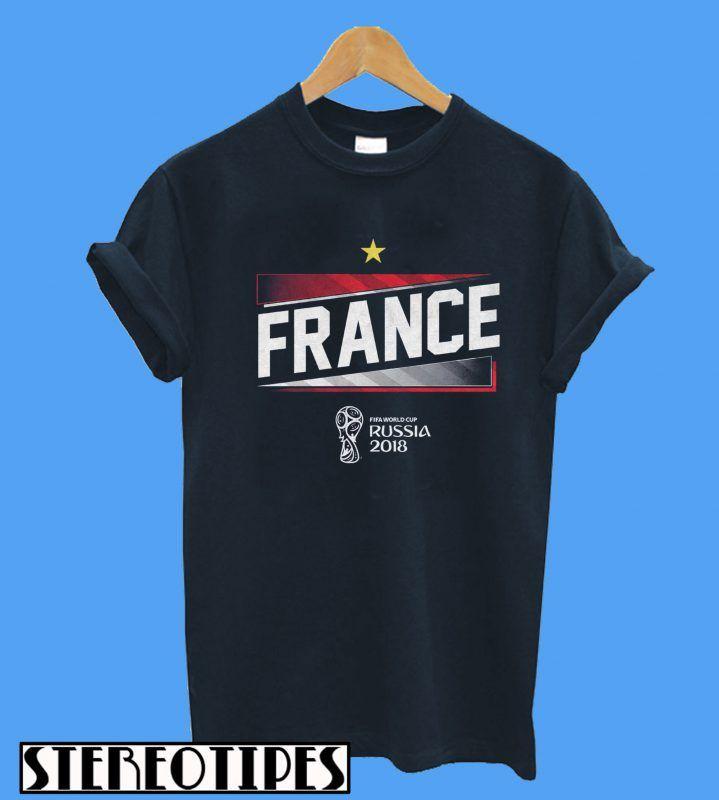 half off bf23f db486 FIFA World Cup Russia 2018 France T-Shirt | T Shirt | World ...