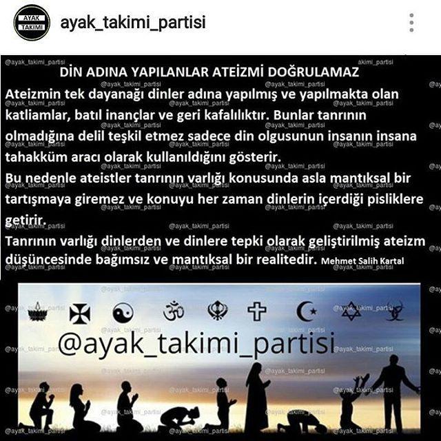 Yorumu olan? Kardeş güzel bi noktaya temas etmiş... @ayak_takimi_partisi . . . . #ateizm #teizm #islamic #allah  #turkiye #oku #bilimkurgu #sabah #yanlizlik #gününsözü #okul #günaydın #türkiye #aşk#mutluluk #ask #basketbol #sevdam#futbol #genç #gençlik #kızlar #geceler #spor #asksanabenzer #felsefegram #eğitim #öğretmen #kuran #ilim http://turkrazzi.com/ipost/1518147795521192803/?code=BURi2BklUNj