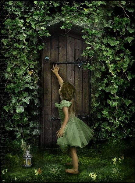 this reminds me of the secret garden. it is such a wonderful book where the door is locked and the key buried and the only one who can get in is the robin.