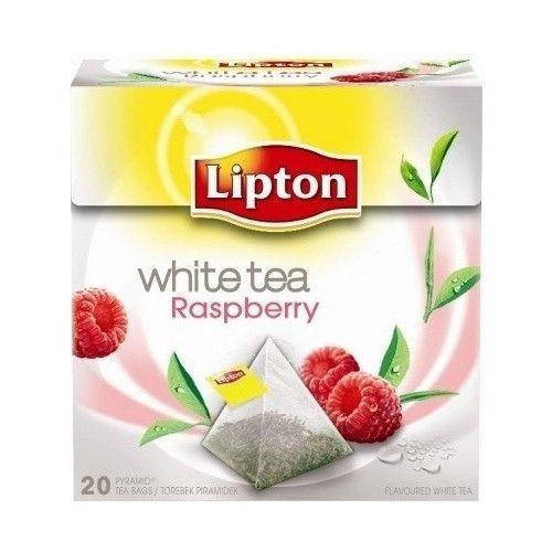-in USA- Lipton White Tea - RASPBERRY - Pyramids -