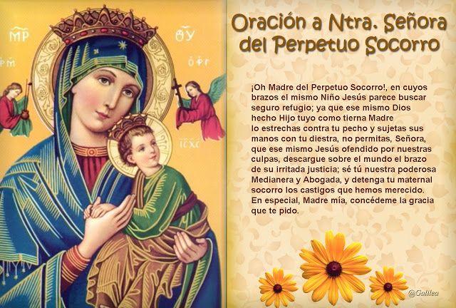 Santa María, Madre de Dios y Madre nuestra: Oración a Ntra. Sra. del Perpetuo Socorro