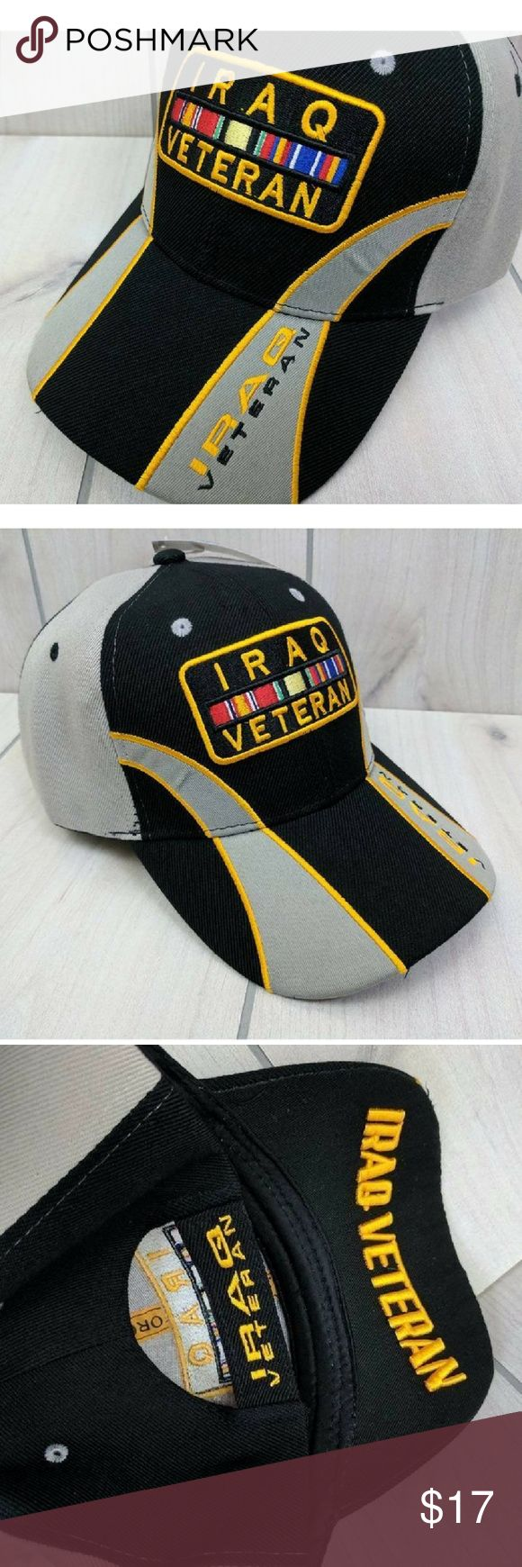 Iraq  Veteran Hat Baseball Cap Adjustable NWT Iraq Veteran adjustable hat. US Services Brigade Medal Ribbons. Smoke free. New with tags. Accessories Hats