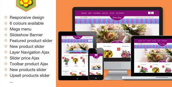 Flower Responsive Magento Theme - Magento eCommerce