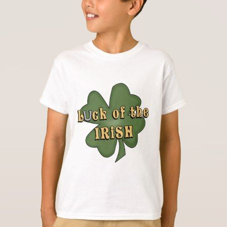 Luck Of The Irish kids t-shirt - tap, personalize, buy right now!