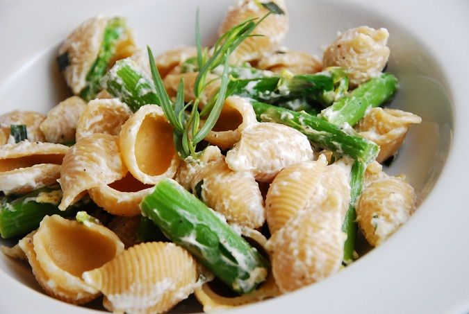 Lemon Basil Goat Cheese and Asparagus Pasta Recipe – 7 Points ...