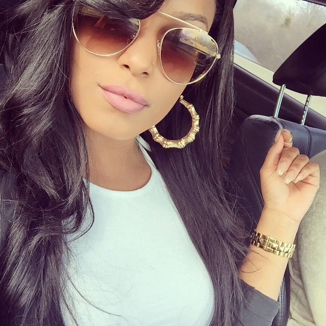 LatoyaForever LatoyaLife Gold Jewellery Fashion Accessory Watch Hoop Earring Sunglasses Pretty Girl Swag