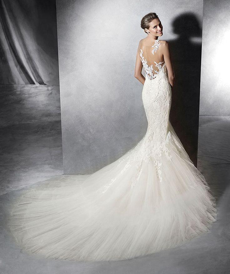 Style Proa 2016 Pronovias Tulle Wedding Dress With Straps