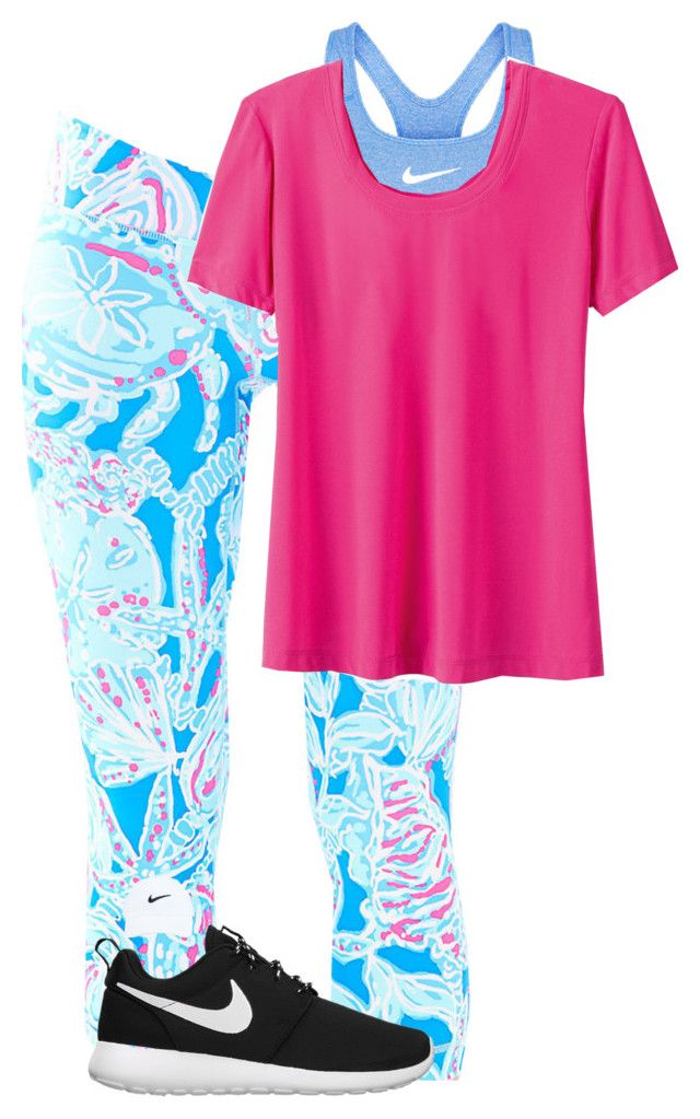 """""""Nike + Lilly =Preppy Workout"""" by evedriggers ❤ liked on Polyvore featuring NIKE and Lilly Pulitzer"""