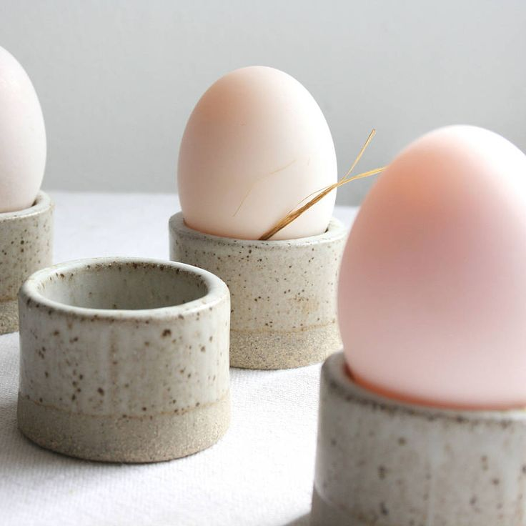 Reduction fired stoneware Egg Cup. Part of the Loch Long Stoneware range of rustic functional tableware, handmade by Tom Butcher in Scotland.
