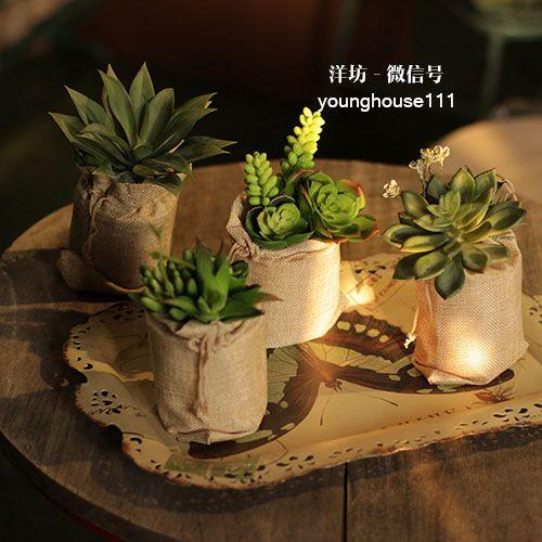 Ян Fang / высокая имитация таз с больше мяса DIY Kit / офис настольного моделирования горшечные растения Суккуленты украшения - глобальная станция Taobao