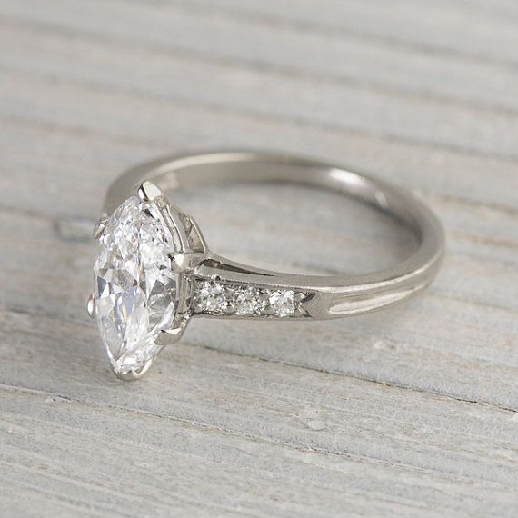 25ddc024c ... holy moly a 1.4 carat vintage tiffany co. marquise engagement ring from  the 1920s ...