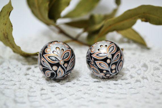 Special order Kristine Medne.2 Beads.Wood.Hand by IGORartPAINTING