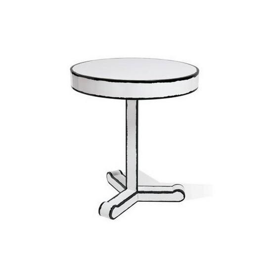 The Trip Cartoon Round Coffee Table - Seletti   $ 224.47 http://mikk.ro/iUx Seletti injects once normal household objects with an element of the downright bizarre to create unique and unforgettable designs.  The Trip Cartoon Collection makes it appear as if your furniture has been illustrated into your space - the lines of the cupboards and drawers are outlined using an organic, hand drawn style, emphasizing the sense of illustration.  The Trip Cartoon Collection is made from solid wood and…