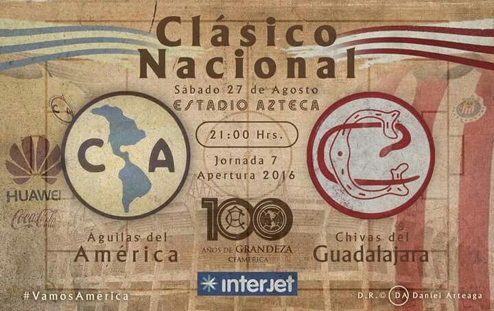 America vs Chivas Clasico del Centenario
