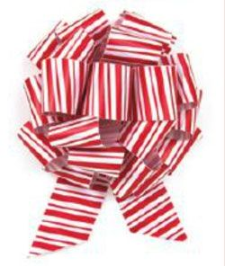 Peppermint Stripe Pull Bows