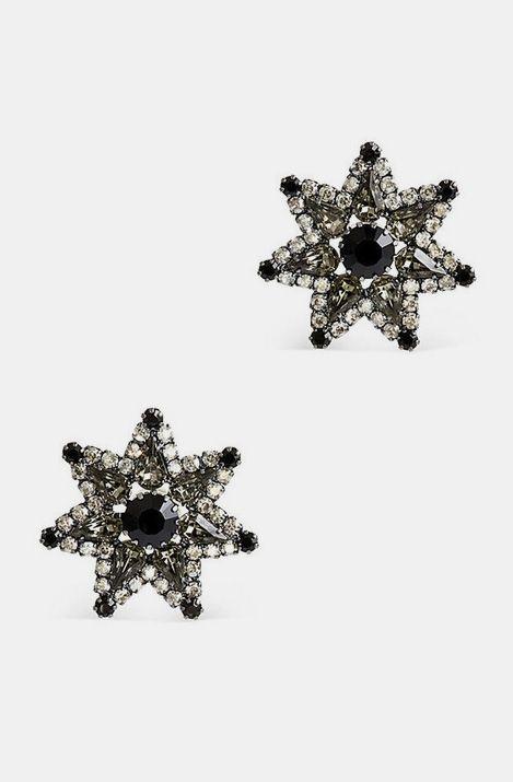 Elizabeth Cole Black, Grey And White Earrings