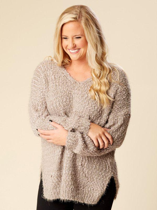 683ab715023b63 Eyelash Sweater | Appearance | Sweaters, Grey