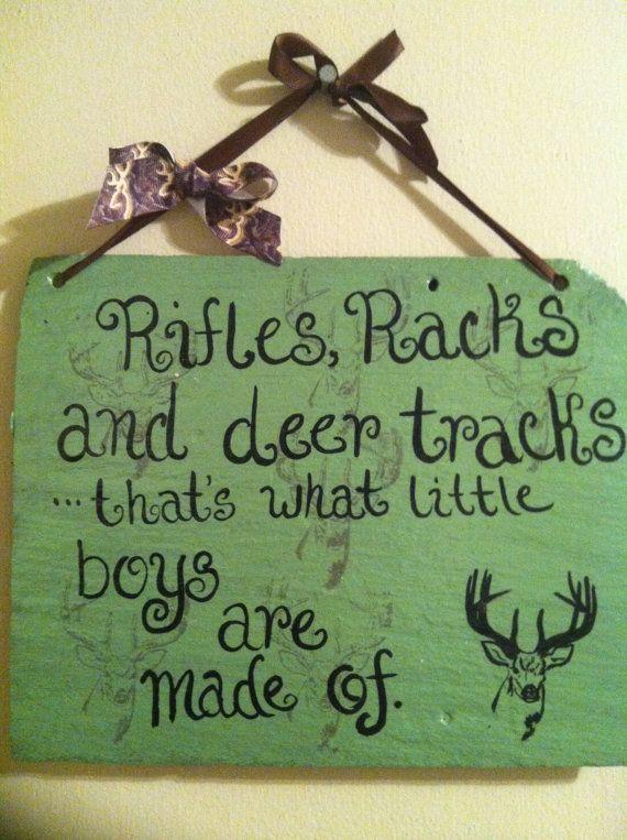 Home Decor, Nursery Decor, Hunting Decor, Wholesale decor, Rifles Racks Deer Tracks Sign