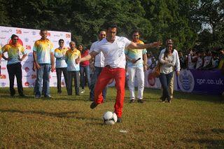 Salman Khan at Junior Soccor Challenger 2013.