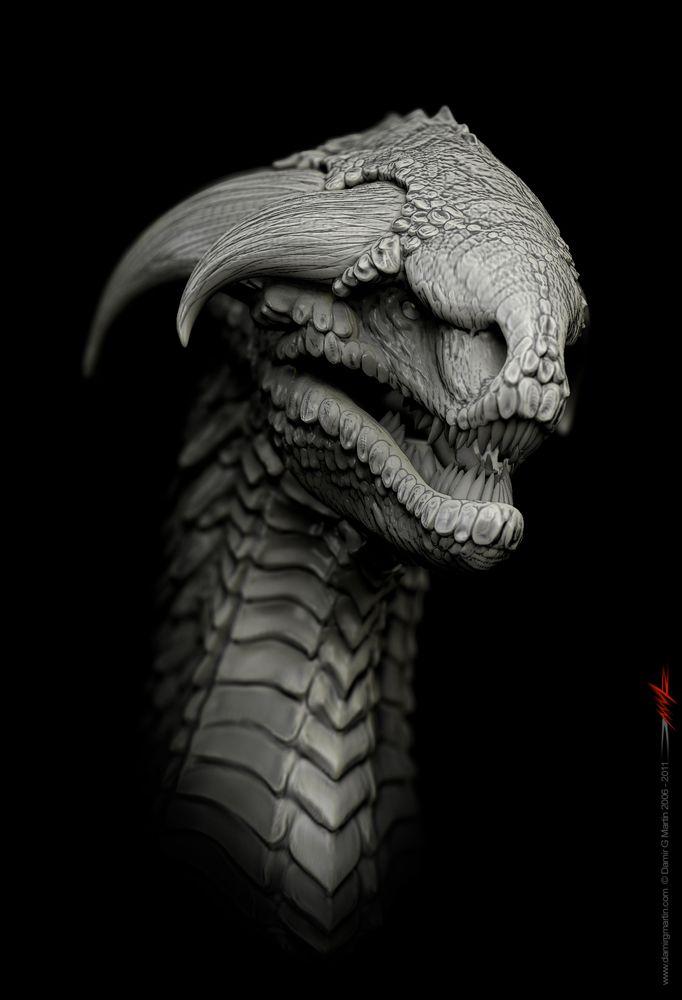 """55 Dragons design """"Marathon"""" http://www.zbrushcentral.com/showthread.php?114935-55-Dragons-design-quot-Marathon-quot"""