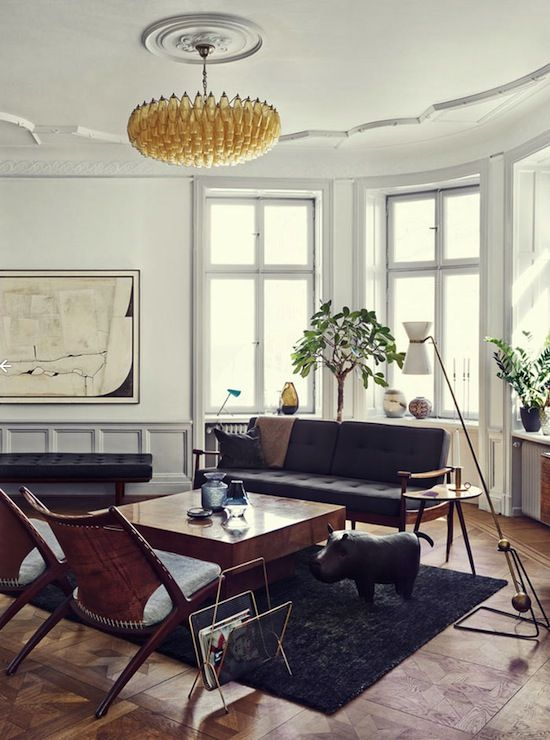 She and her partner designed the space using a combination of modern  mid  century  and traditional finds  the space is a warm and well done place. 854 best images about vintage modern home  on Pinterest   Pink