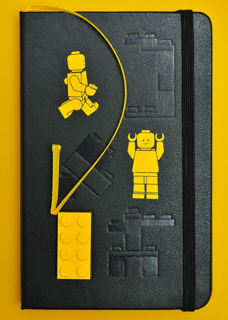 Limited Edition Lego Moleskine - Front with Inlaid Lego Block    ~ Image by Jason Michael