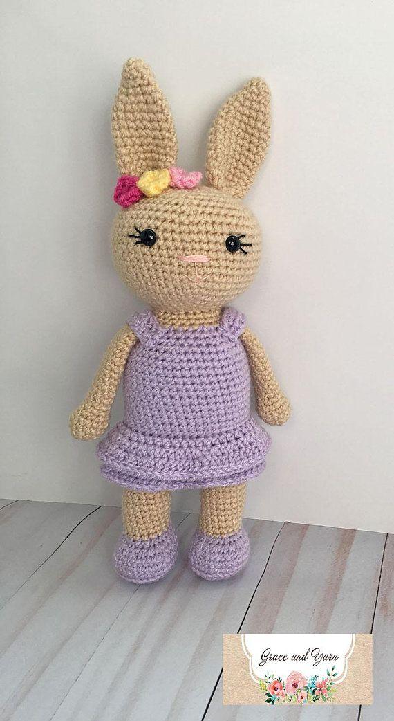 Pretty Bunny amigurumi in pink dress - Amigurumi Today | 1042x570