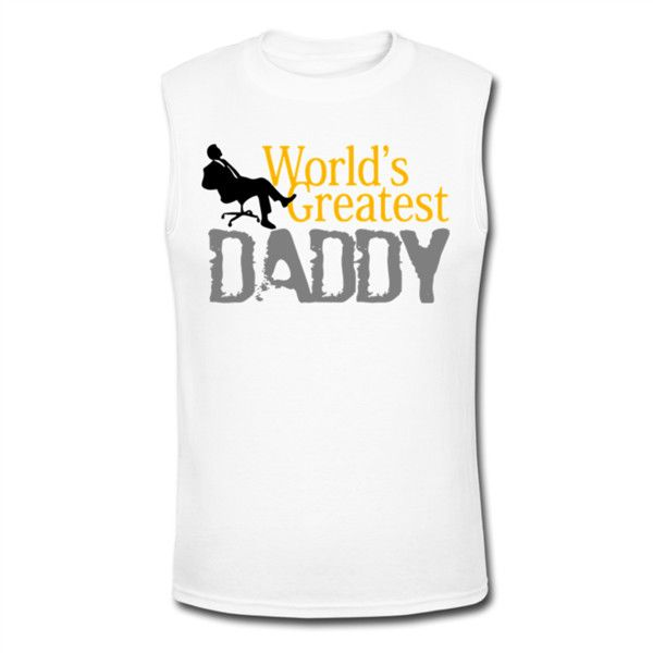 I Love Greatest Daddy Men's Muscle T-Shirt White Men's Muscle T-Shirt... ($19) ❤ liked on Polyvore featuring men's fashion, men's clothing, men's shirts, men's t-shirts, mens summer t shirts, mens muscle t shirts, mens t shirts, men's sleeveless t shirts and men's muscle tee shirts